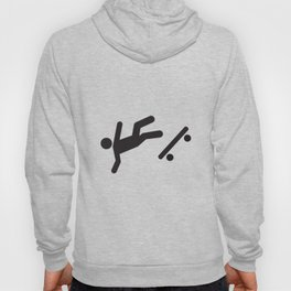 Stickman Skateboard Fall Hoody