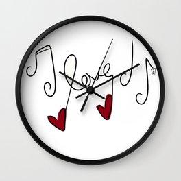 Love Notes Wall Clock