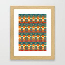 Dinner pattern Framed Art Print
