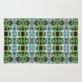 Jade Hearts Stained Glass Patten Rug