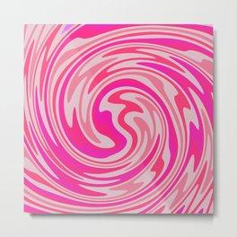 Candy Floss Swirl Metal Print