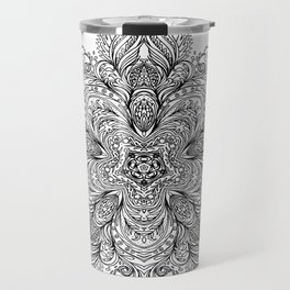 B&W Indian Mandala Travel Mug