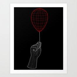 Grid Air - Non T-Shirt Art Print