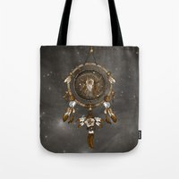 dreamcatcher Tote Bags featuring DreamCatcher by Paula Belle Flores