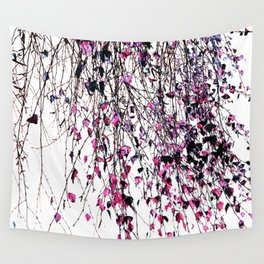pink leaves Wall Tapestry