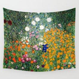 Gustav Klimt - Flower Garden - 1906 - Re-Mastered Print Wall Tapestry