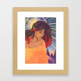 Klimt Inspired Kiara Framed Art Print