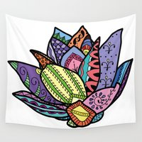 lotus flower Wall Tapestries featuring Lotus by Ilse S