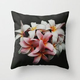 Flowers In The Dark Throw Pillow