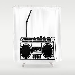 Boombox Shower Curtain