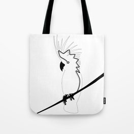 Cockatoo in line Tote Bag