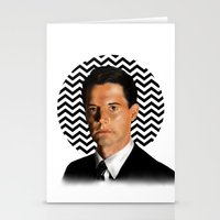 dale cooper Stationery Cards featuring Special Agent Dale Cooper - Twin Peaks by thewhimsicallilbird