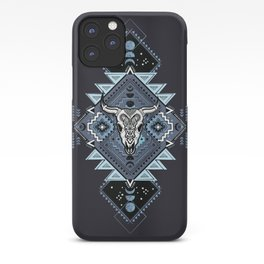 Vintage ethnic geometric hand drawn illustration iPhone Case