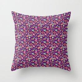 Batik Kebaya Purple SQ Throw Pillow