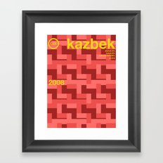 kazbek single hop Framed Art Print
