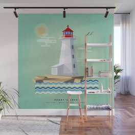 Peggy's Cove Lighthouse Wall Mural