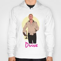 ryan gosling Hoodies featuring Drive - Ryan Gosling by Just Jolt