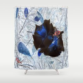 Red Beetles Shower Curtain