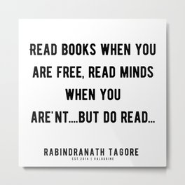 77 |Rabindranath Tagore Quotes | 201208| The Author Of Gitanjali| Poem Poet Poetry Metal Print
