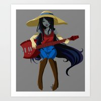 marceline Art Prints featuring Marceline  by Fishiebug