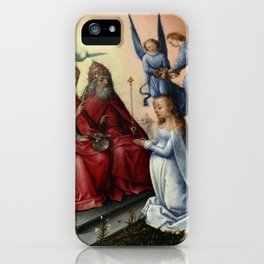 Michel sittow - Coronation of the Virgin iPhone Case