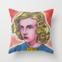 ginger Throw Pillows featuring Ginger by Anna Gogoleva