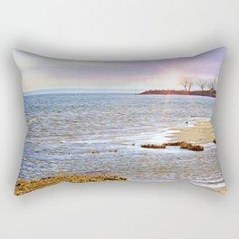 Sunset At The Beach - Tod's Point Rectangular Pillow