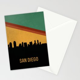 San Diego Skyline Stationery Cards