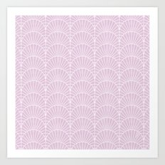 Art Deco Lavender Fields by Friztin Art Print