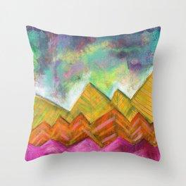 Autumn Mountain Peaks Throw Pillow