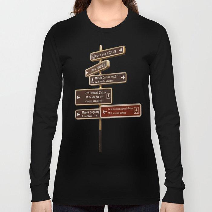 Paris Signage Long Sleeve T-shirt