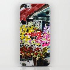 Flower market iPhone & iPod Skin