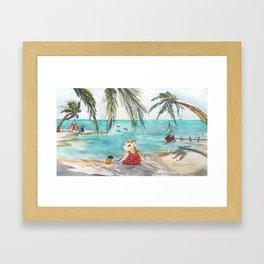 Ginger's Gone On Holiday Framed Art Print