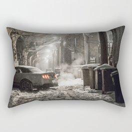 A Chicago Snow Filled Winter; Try Parking Rectangular Pillow
