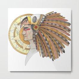 Aztec Metal Print