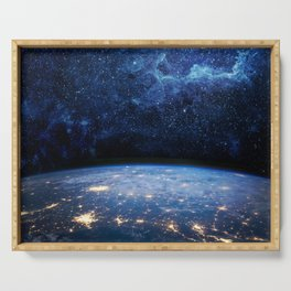Earth and Galaxy Serving Tray
