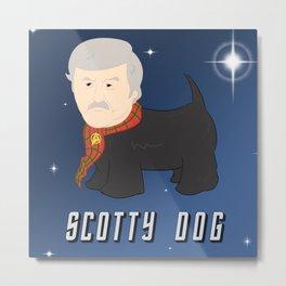 Scotty Dog Metal Print