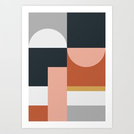 Abstract Geometric 09 Art Print