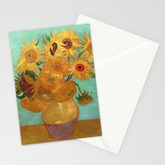 Vincent Van Gogh Twelve Sunflowers In A Vase Stationery Cards