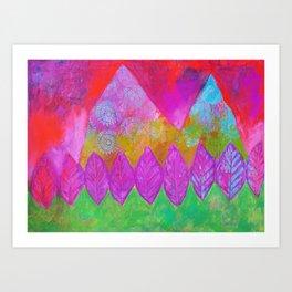 Magical Mountain Meadow Art Print