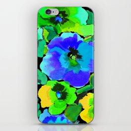 green pansies iPhone Skin