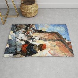 """Tripoli Pirates"" by Frank Schoonover Rug"