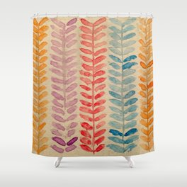 watercolor knit pattern Shower Curtain