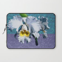 White Orchid Over Water Laptop Sleeve