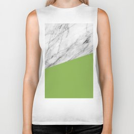 Marble and Greenery Color Biker Tank