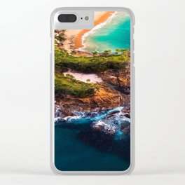 Sky view of a special beach Clear iPhone Case
