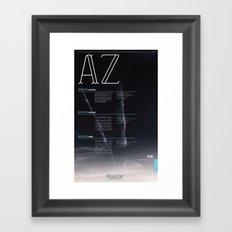 BAKANE FONT Framed Art Print