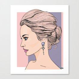 Royal messy bun Canvas Print
