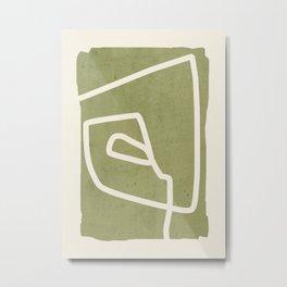 abstract minimal 57 Green Metal Print