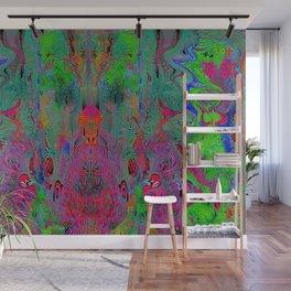 Garish Hidden Clown (Psychedelic, Op Art, Abstract) Wall Mural